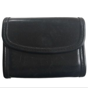 VINTAGE Coach small wallet burgandy leather